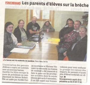 Article de Presse Octobre 2013 dans Le Coin Presse 11_10_13-300x282